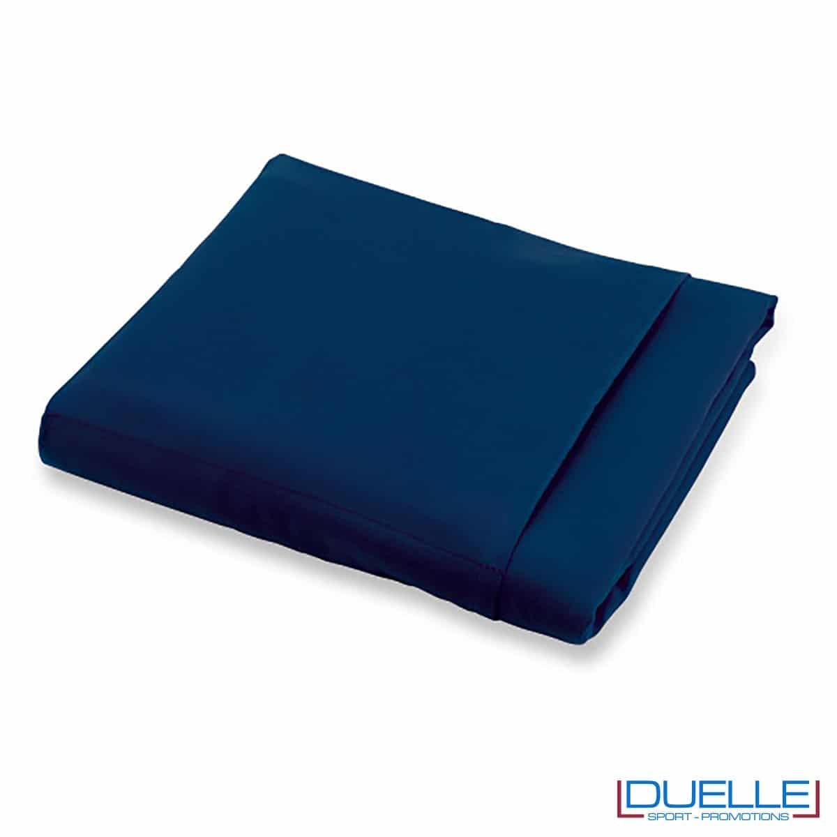 telo personalizzato in microfibra colore blu navy