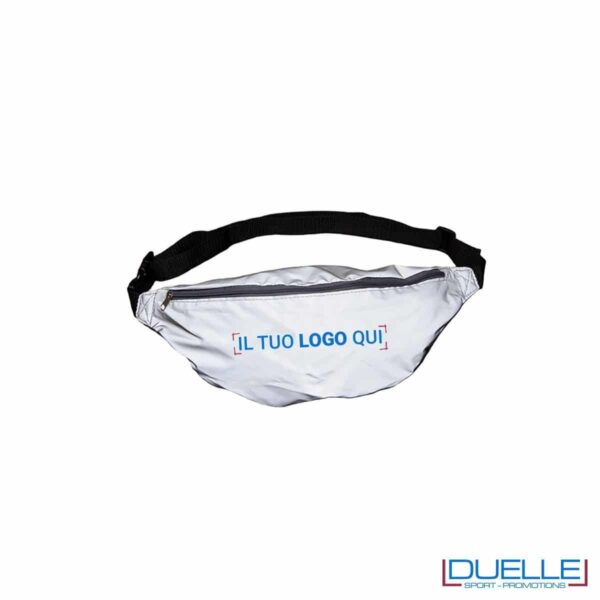 Marsupio alta visibilità personalizzato in tessuto catarifrangente per running