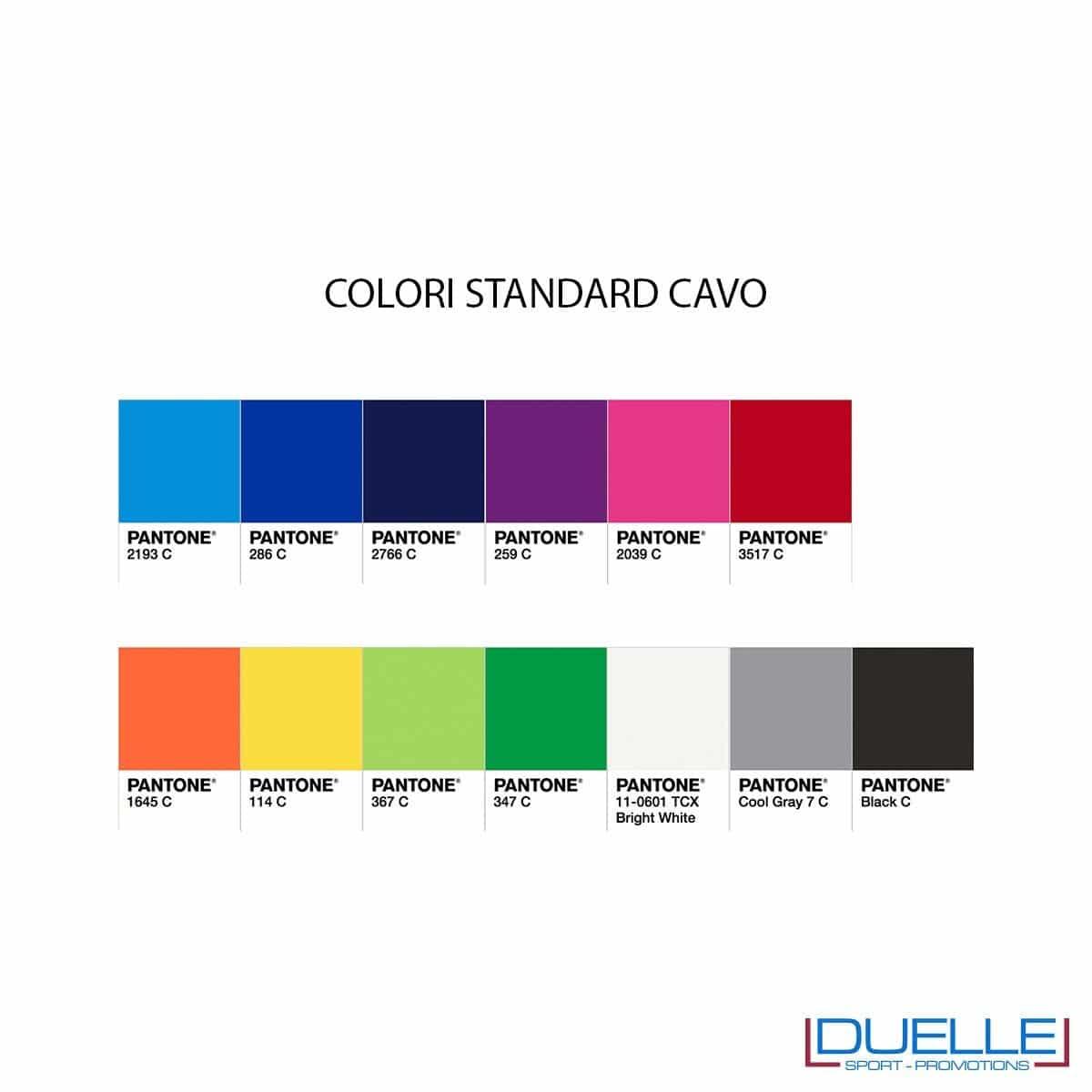 Colori disponibili per Cavetto universale 3 in 1 personalizzato con connettori lightning, microUsb, Usb Type-C