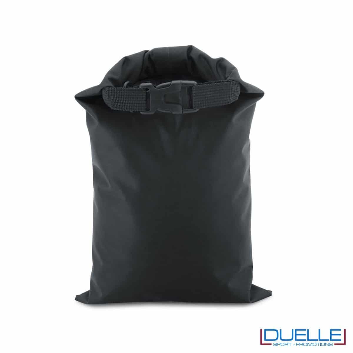 Sacca impermeabile in nylon personalizzata colore nero