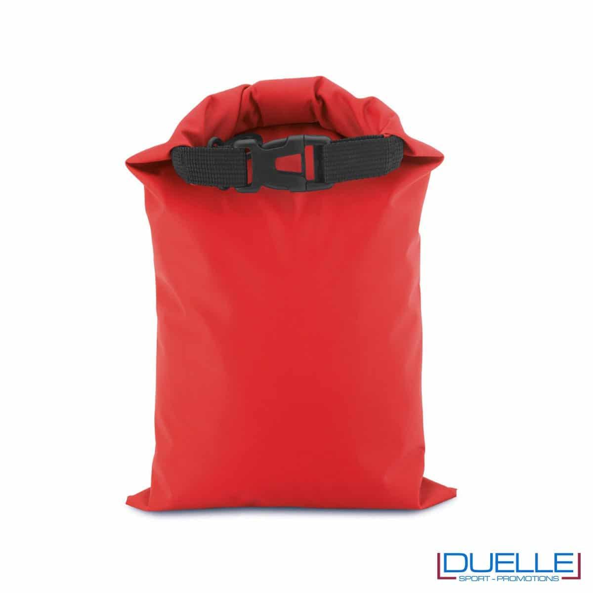 Zaino impermeabile personalizzato colore rosso
