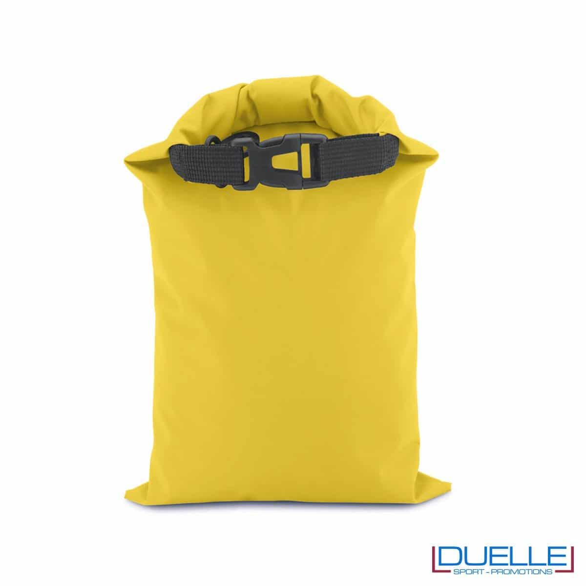 Sacca impermeabile personalizzata colore giallo