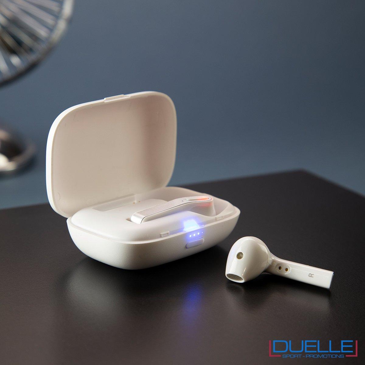 Auricolari personalizzati bluetooth senza fili ricaribili su base
