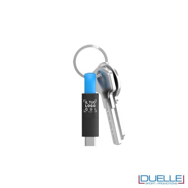 Cavetto universale 3 in 1 personalizzato con connettori lightning, microUsb, Usb Type-C