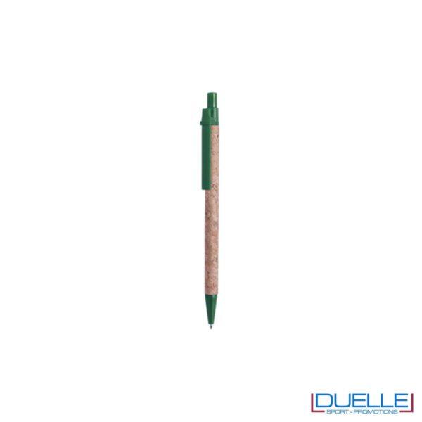 Penne in sughero personalizzate con particolari colore verde