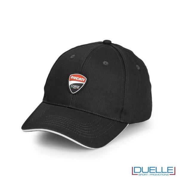 cappellino ducati corse personalizzato in colore nero