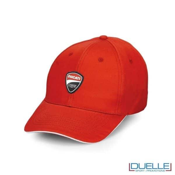 cappellino ducati corse personalizzato in colore rosso