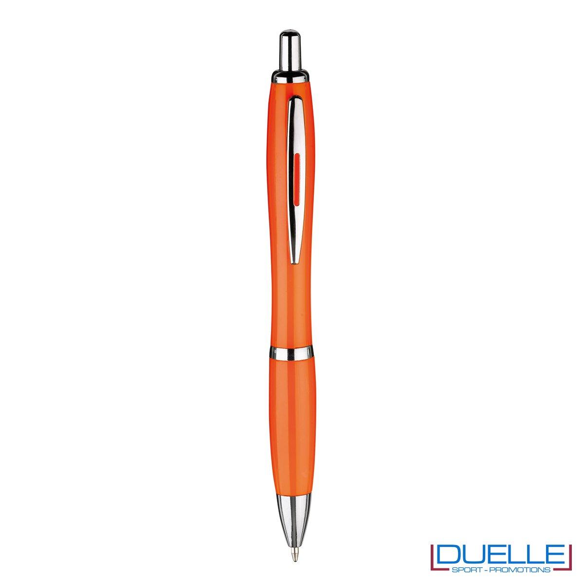 Penna economica personalizzata fusto in plastica colore arancione