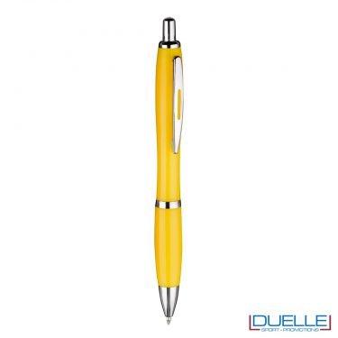 Penna economica personalizzata fusto in plastica colore giallo