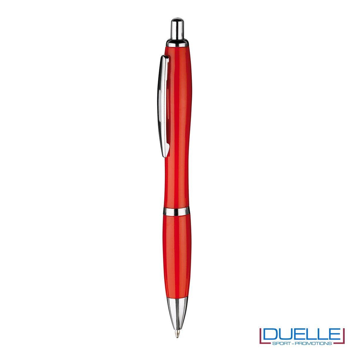 Penna economica personalizzata fusto in plastica colore rosso