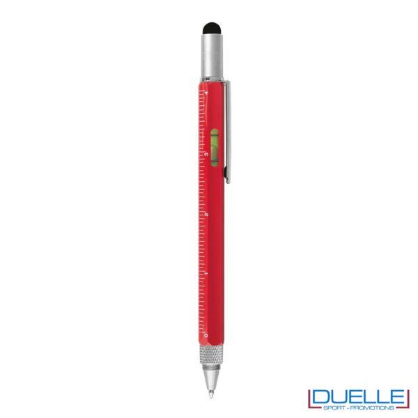 Penne in alluminio con bolla righello e cacciavite personalizzate colore rosso