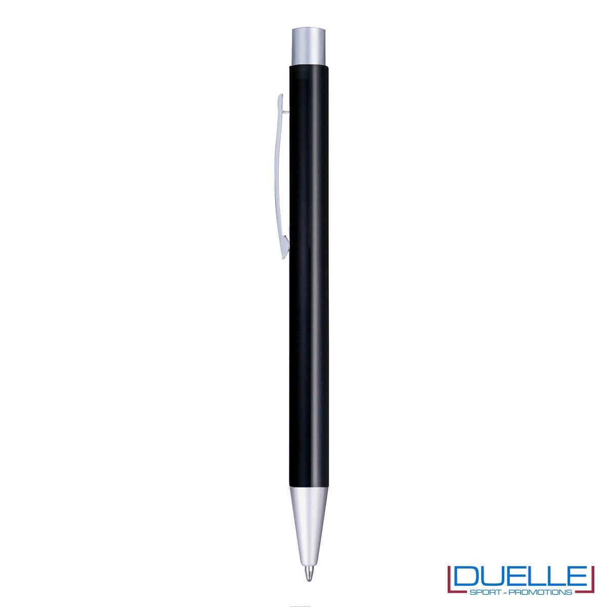 Penna in alluminio personalizzata con incisione laser colore nero