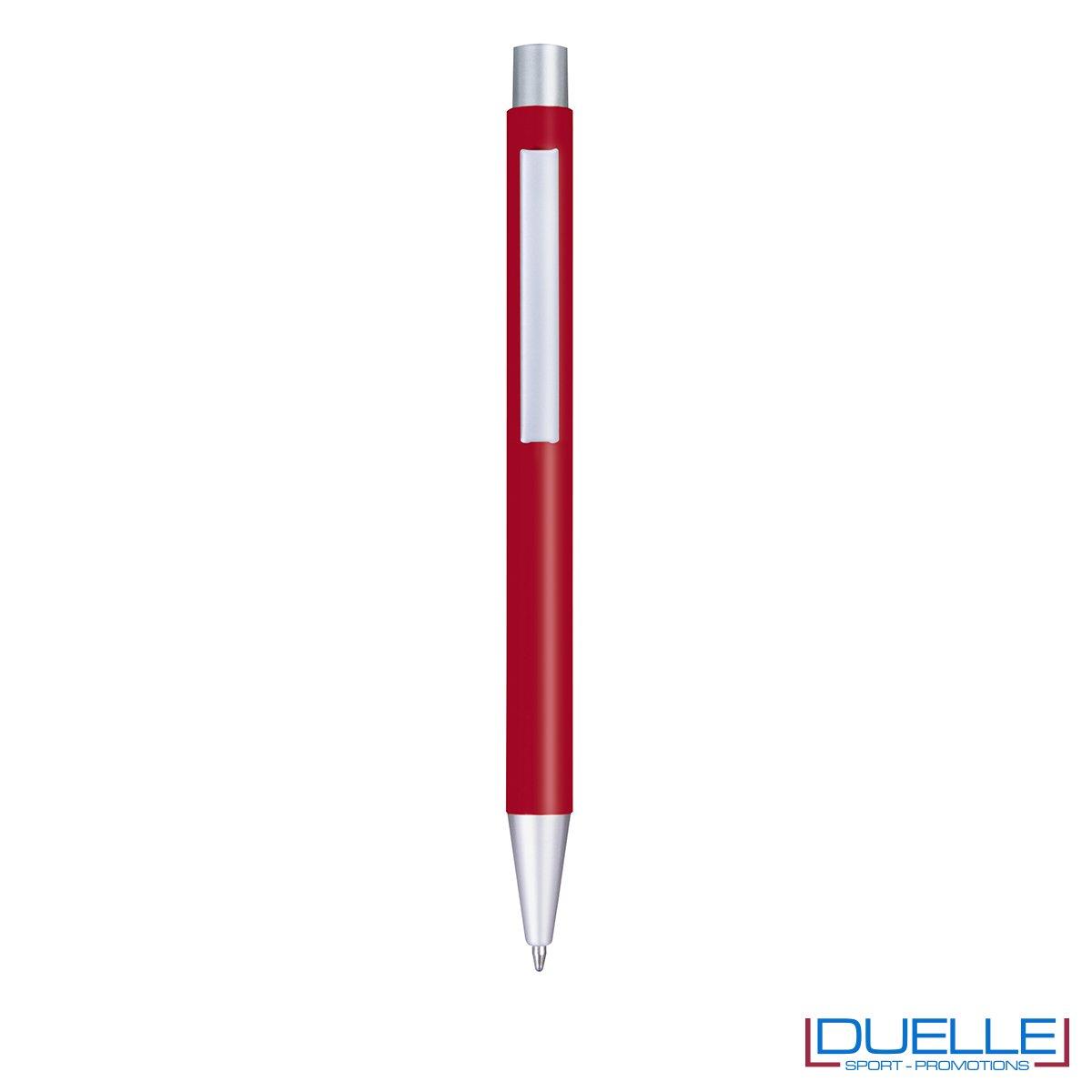 Penna in alluminio personalizzata con incisione laser colore rosso