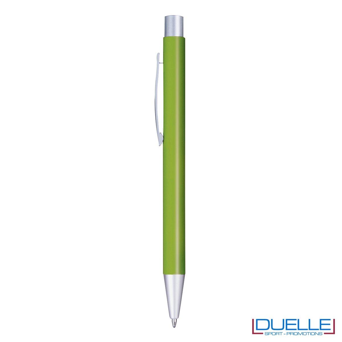 Penna in alluminio personalizzata con incisione laser colore verde chiaro