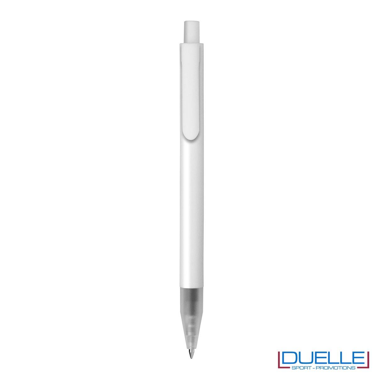 Penna personalizzata in plastica colore bianco
