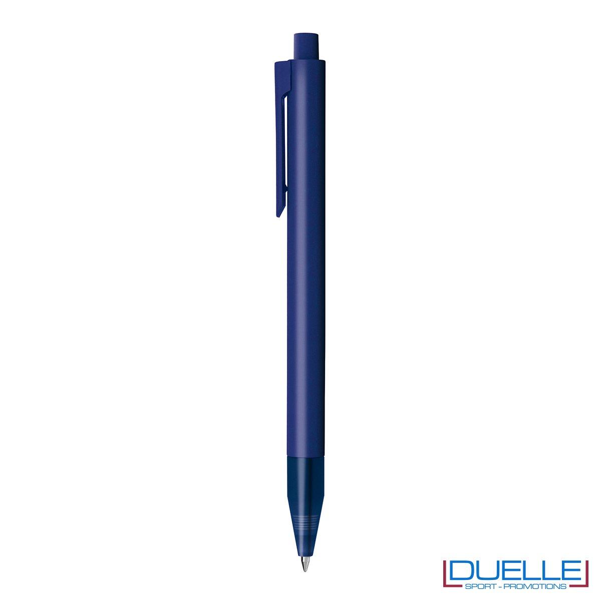 Penna personalizzata in plastica colorata blu