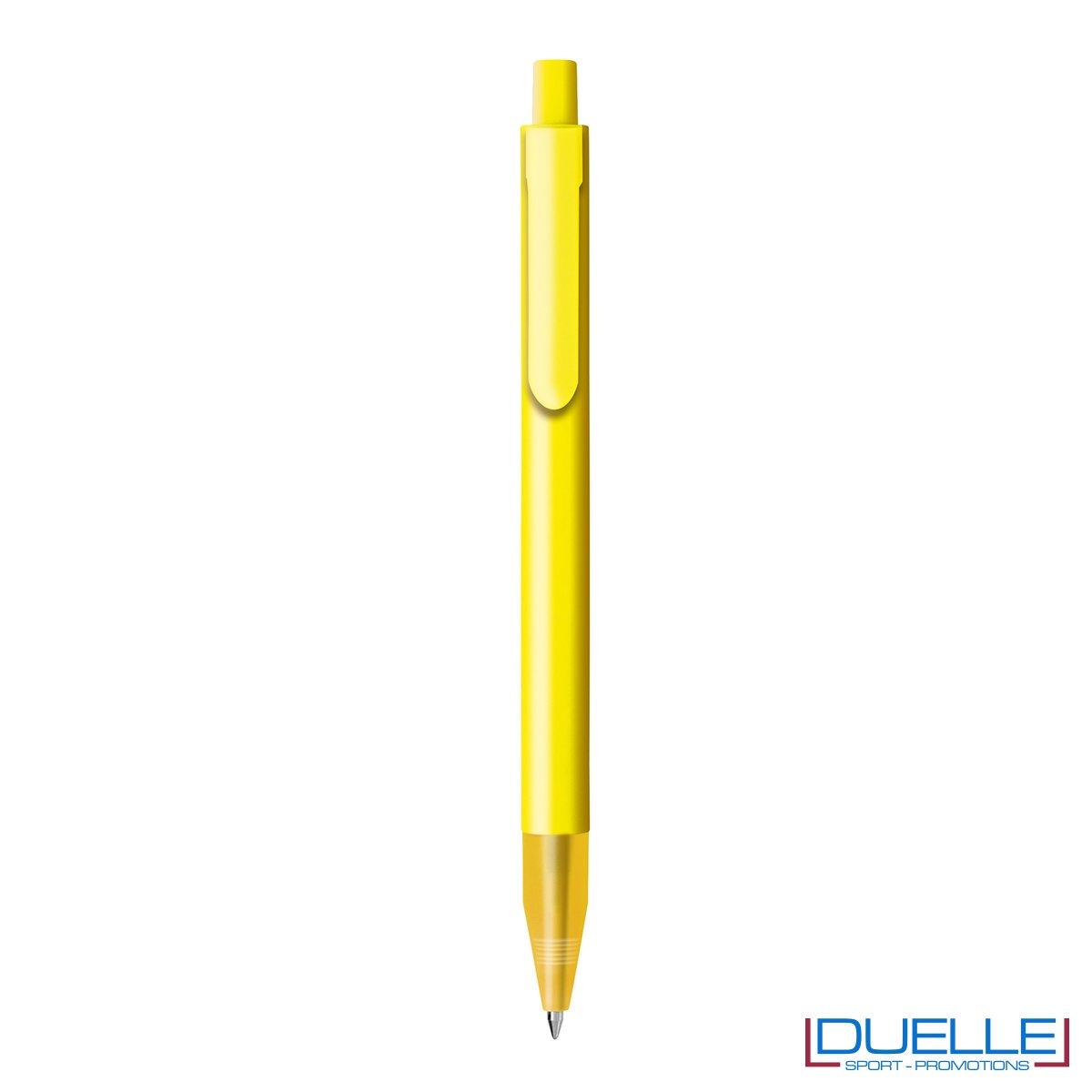 Penna personalizzata con fusto in plastica finitura satinata colore giallo