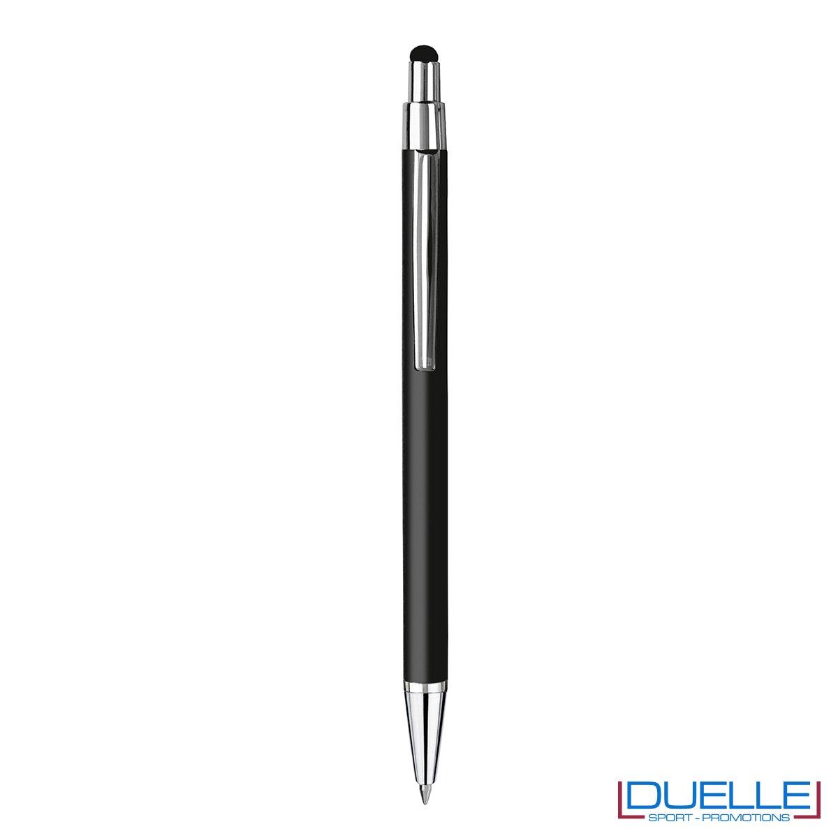 Penna personalizzata finitura soft touch colore nero