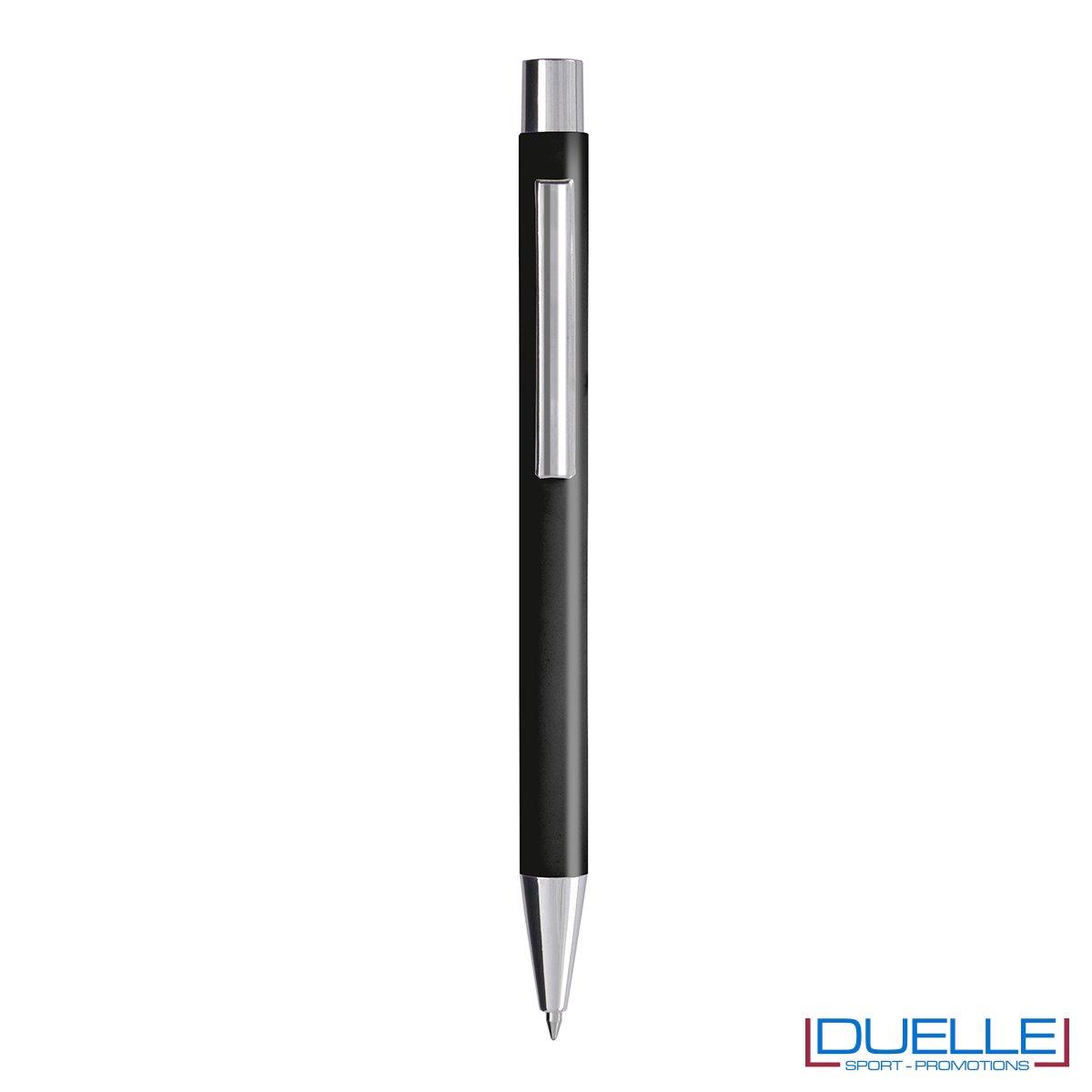 Penna personalizzata fusto soft touch colore nero