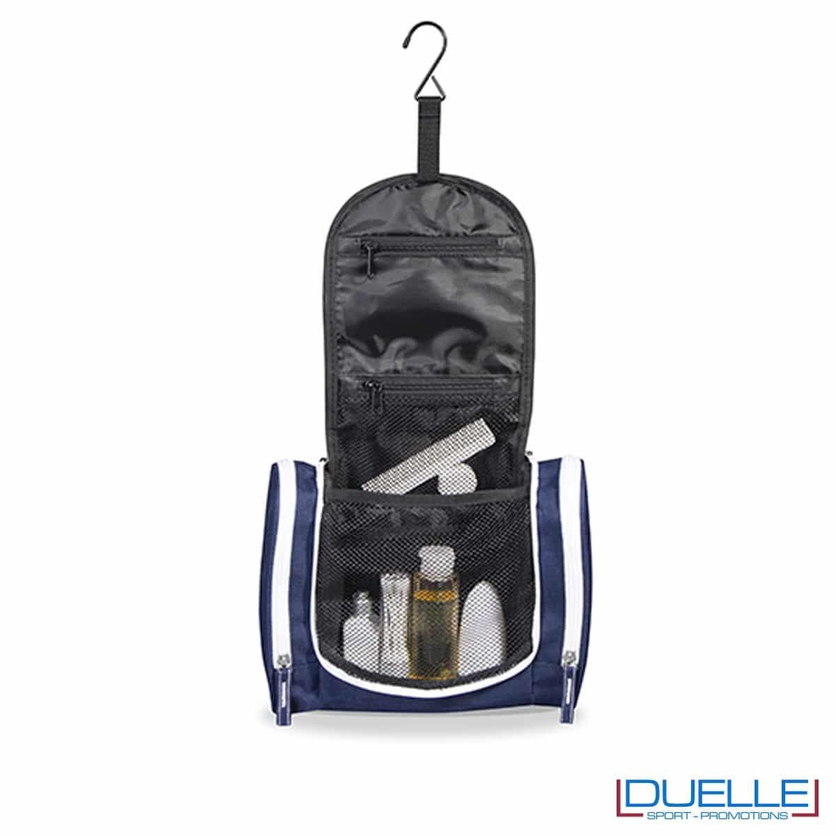 Beauty case da appendere personalizzato colore blu navy