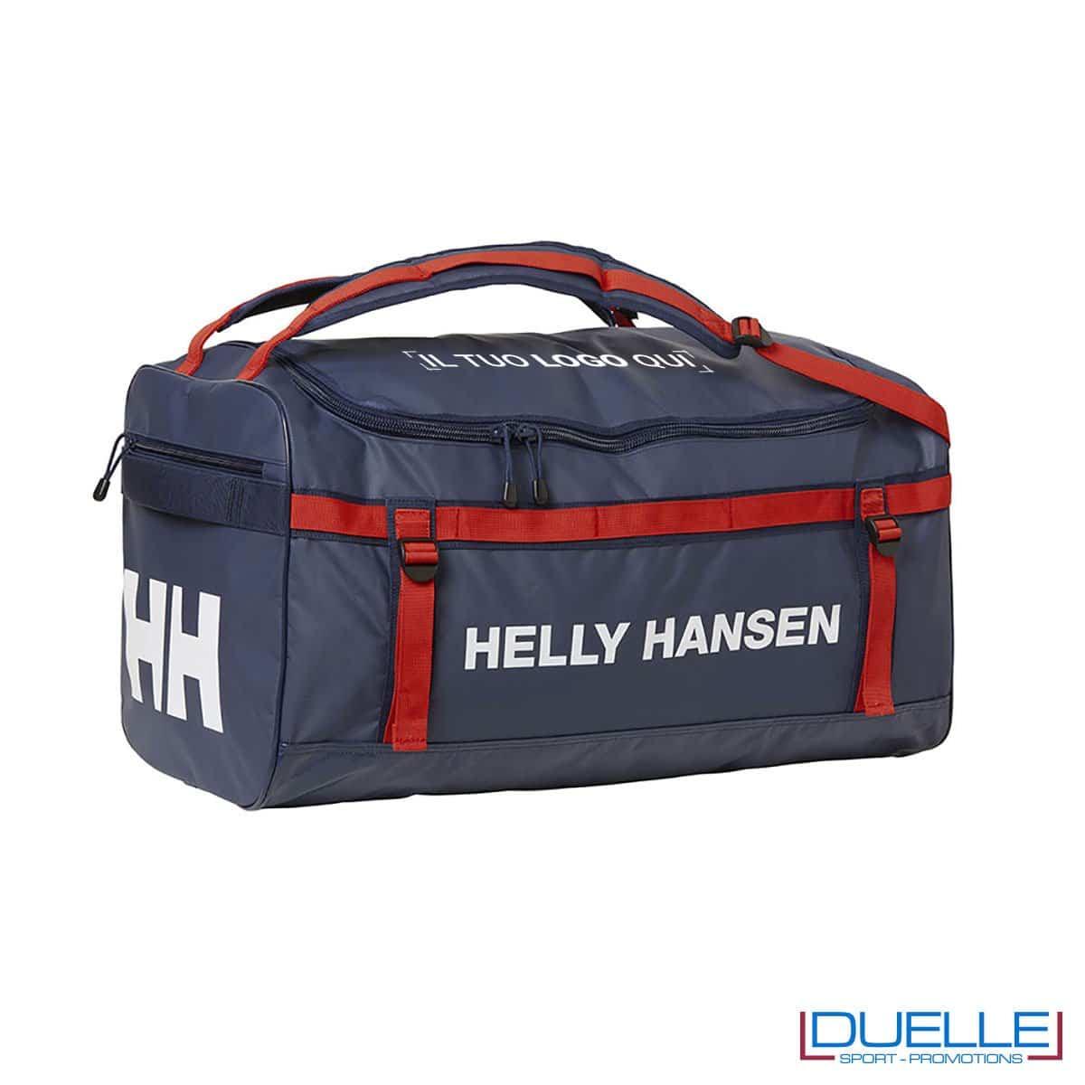 Borsone sport personalizzato Helly Hansen Classic Duffel colore blu