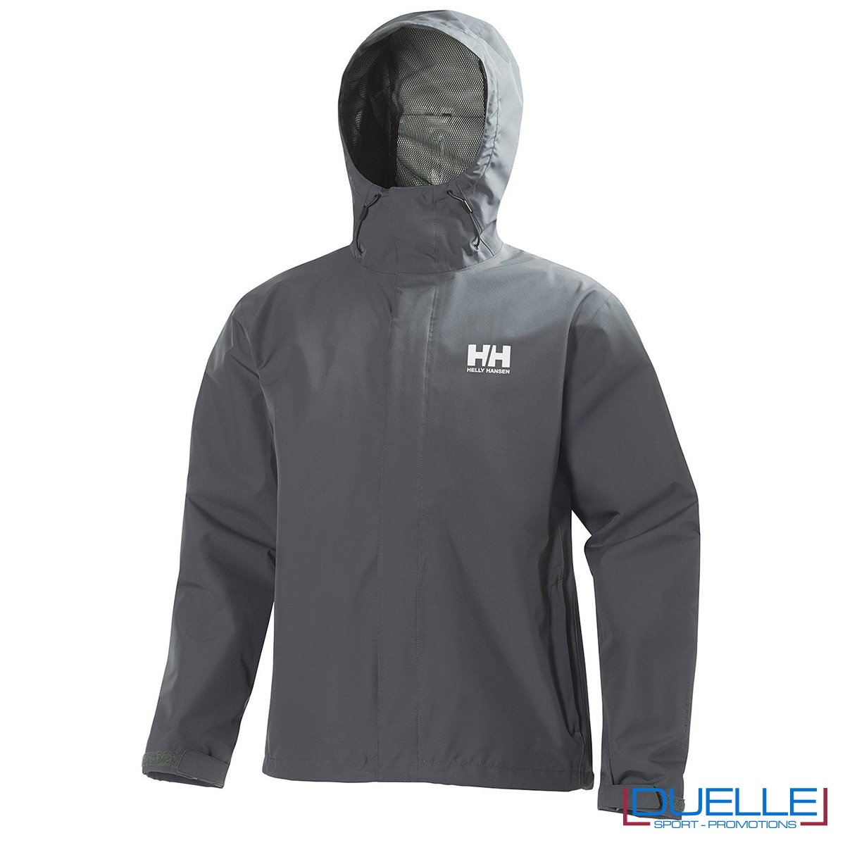 Giacca Helly Hansen Seven J personalizzata colore grigio