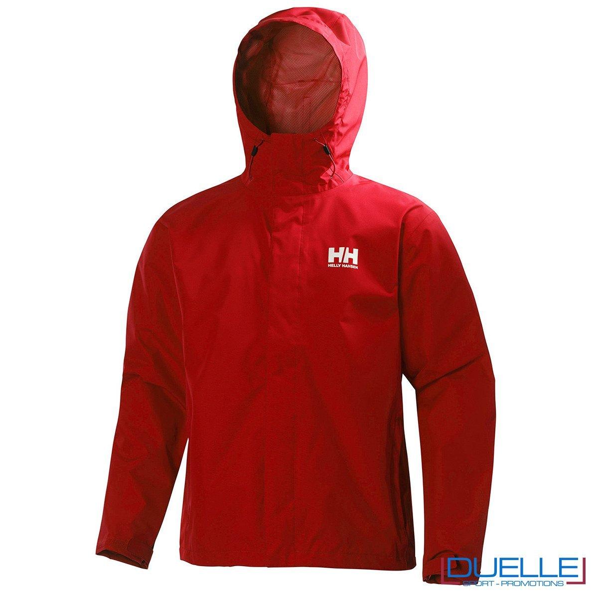 Seven J jacket Helly Hansen personalizzata colore rosso
