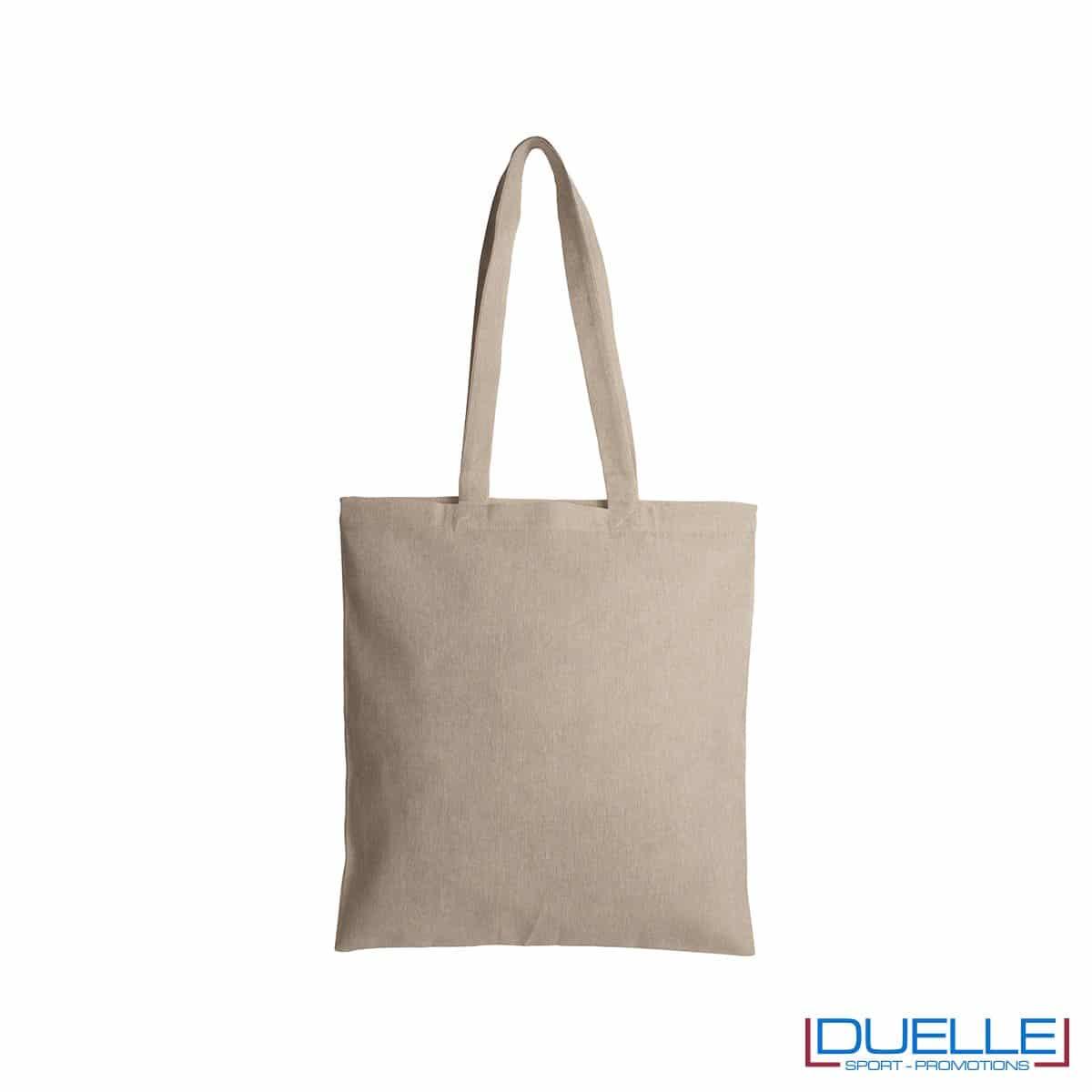 Shopper personalizzate in cotone riciclato colore naturale