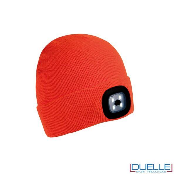 Berretto con led personalizzato colore arancione