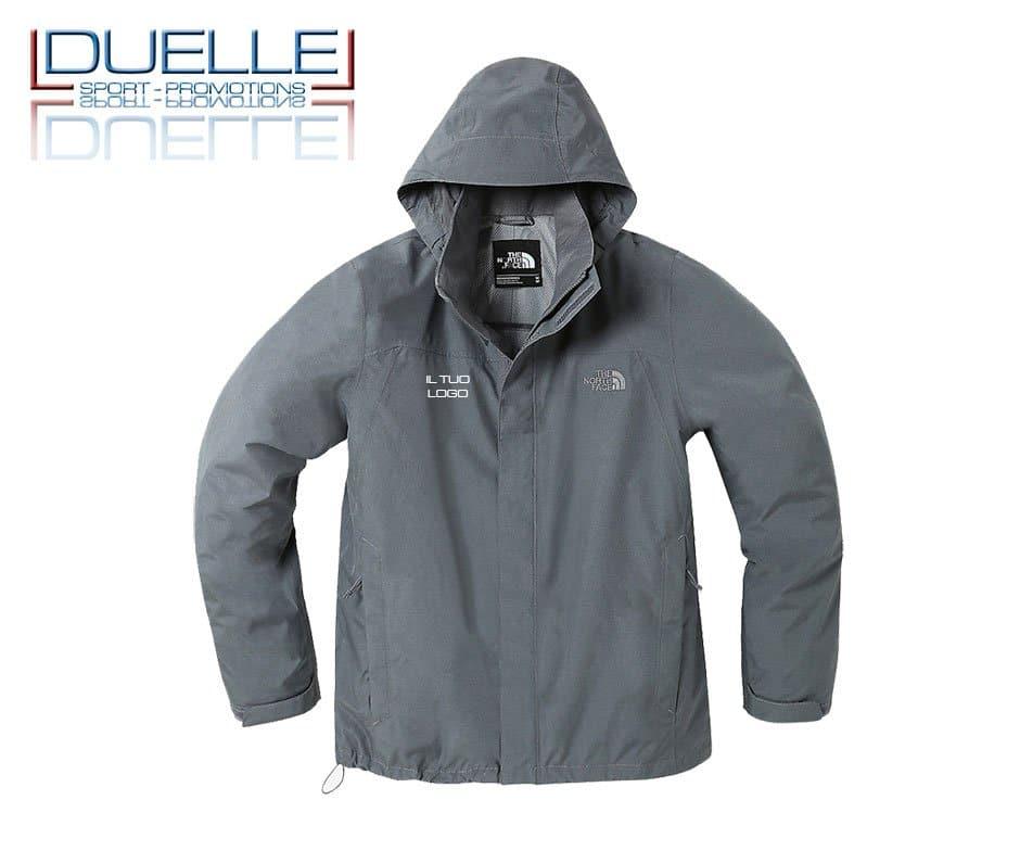 The North Face Sangro jacket personalizzata colore grigio