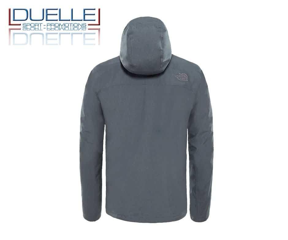 North Face Sangro jacket personalizzata colore grigio