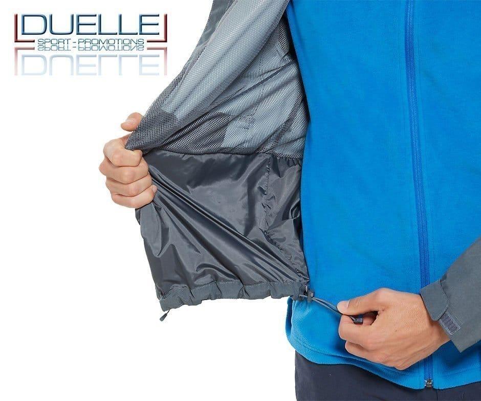 Fondo regolabile giacca Sangro North Face personalizzata colore grigio