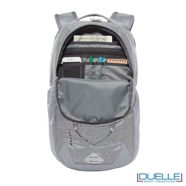 Zaino porta laptop personalizzato The North Face Jester colore grigio