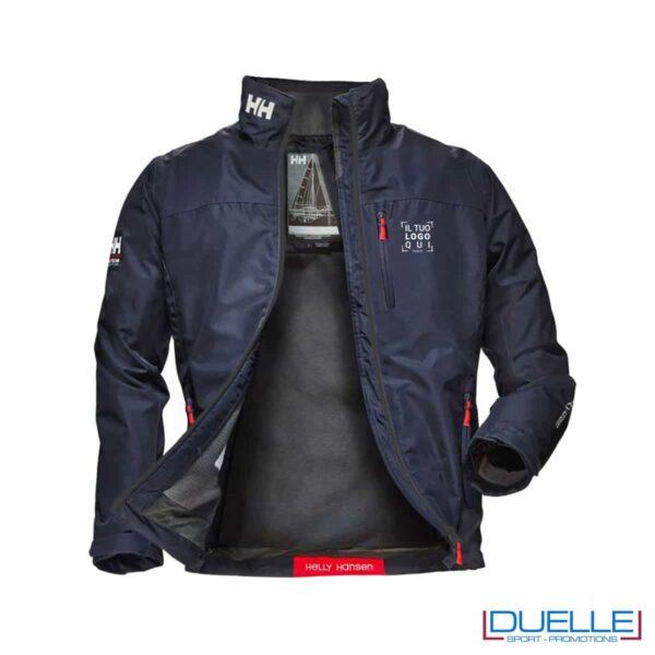 Giacca impermeabile Blu navy da personalizzare con logo