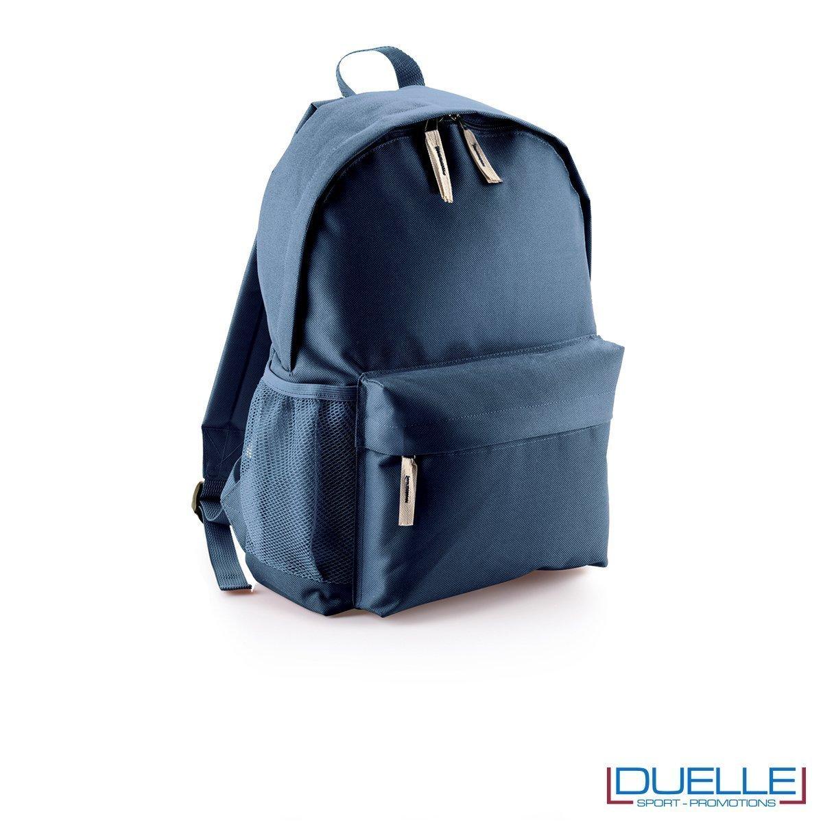 zaino personalizzato colore blu navy, gadget promozionale sport e tempo libero. Zainetto economico da stampare