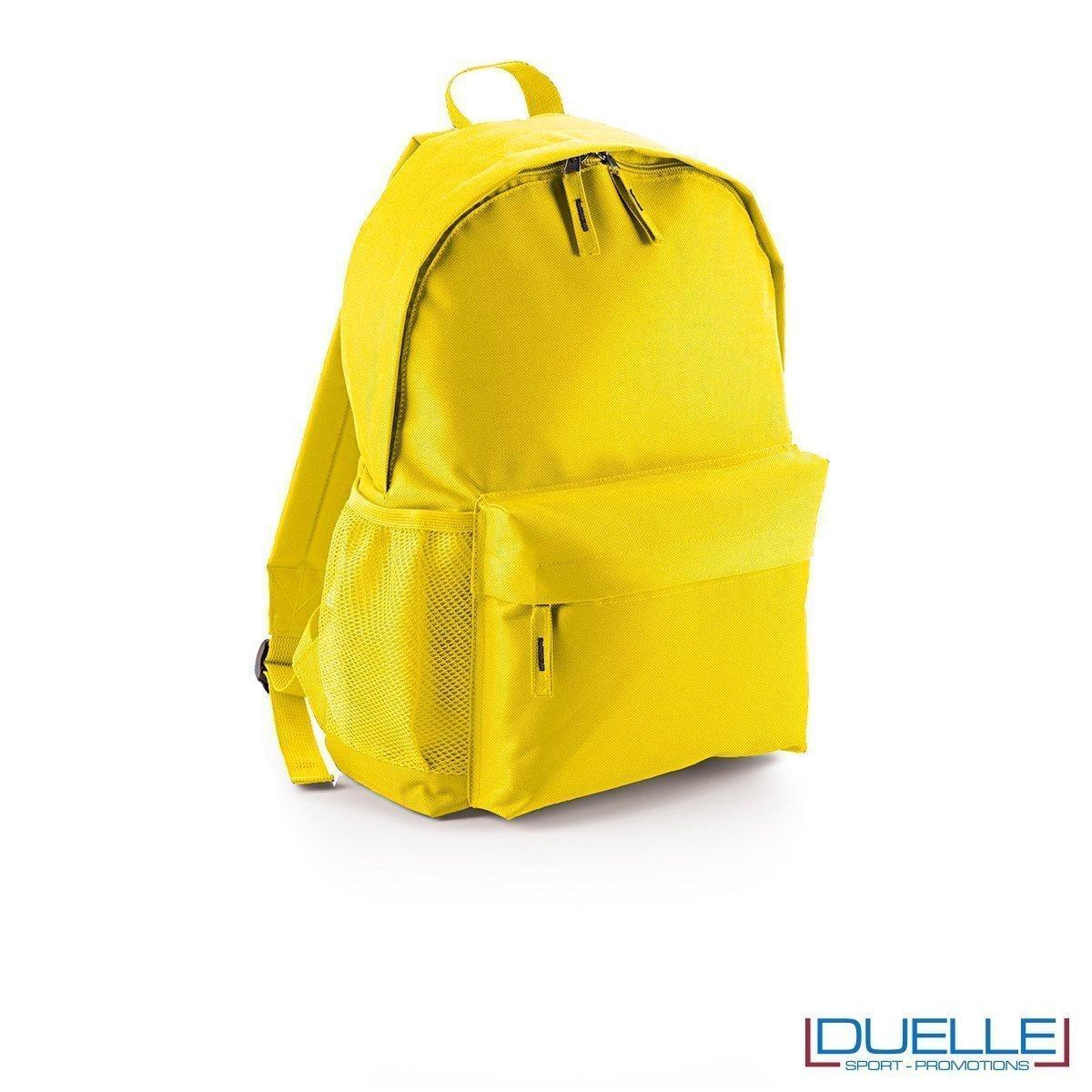 zaino personalizzato giallo, gadget promozionale sport e tempo libero