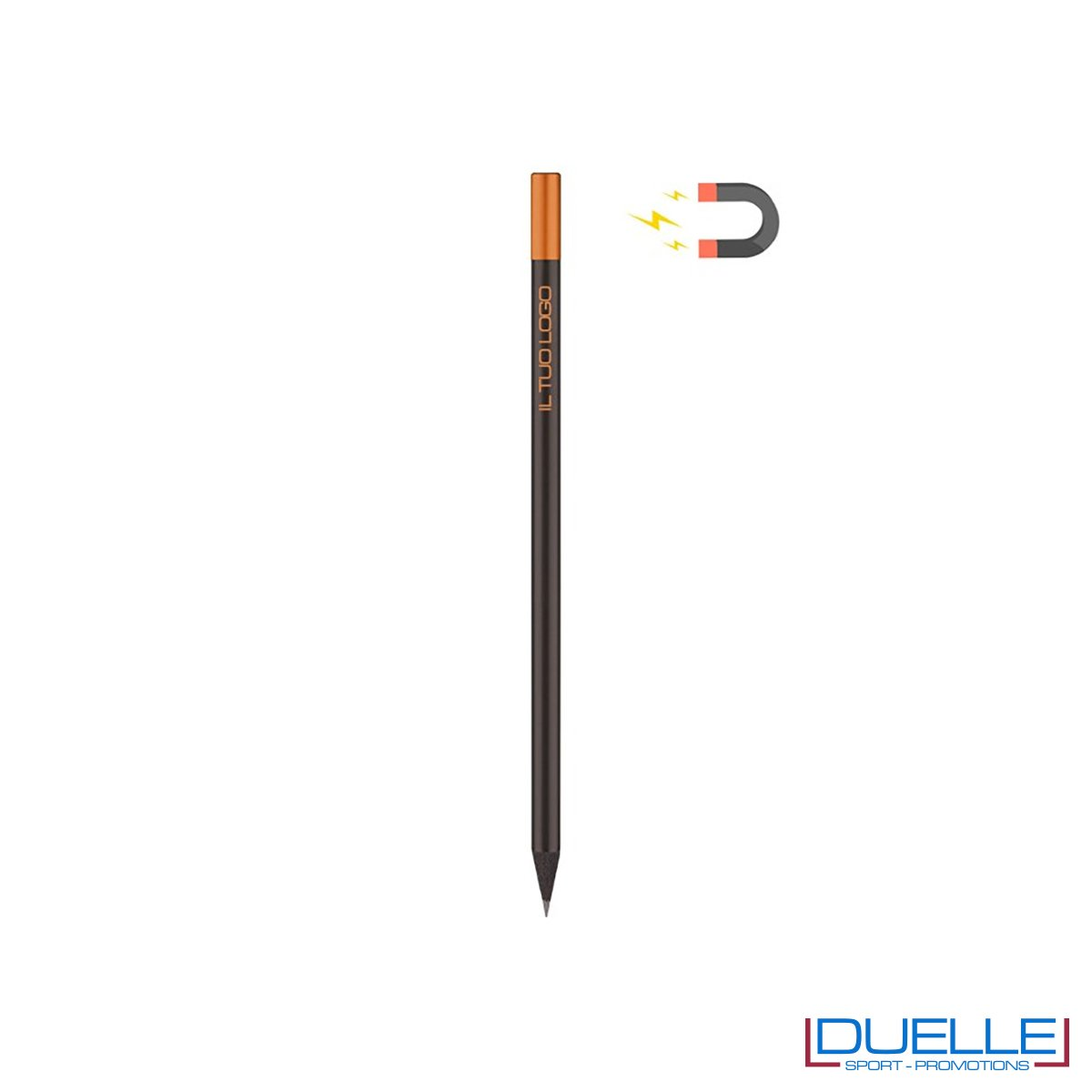 matita con calamita personalizzata colore arancione