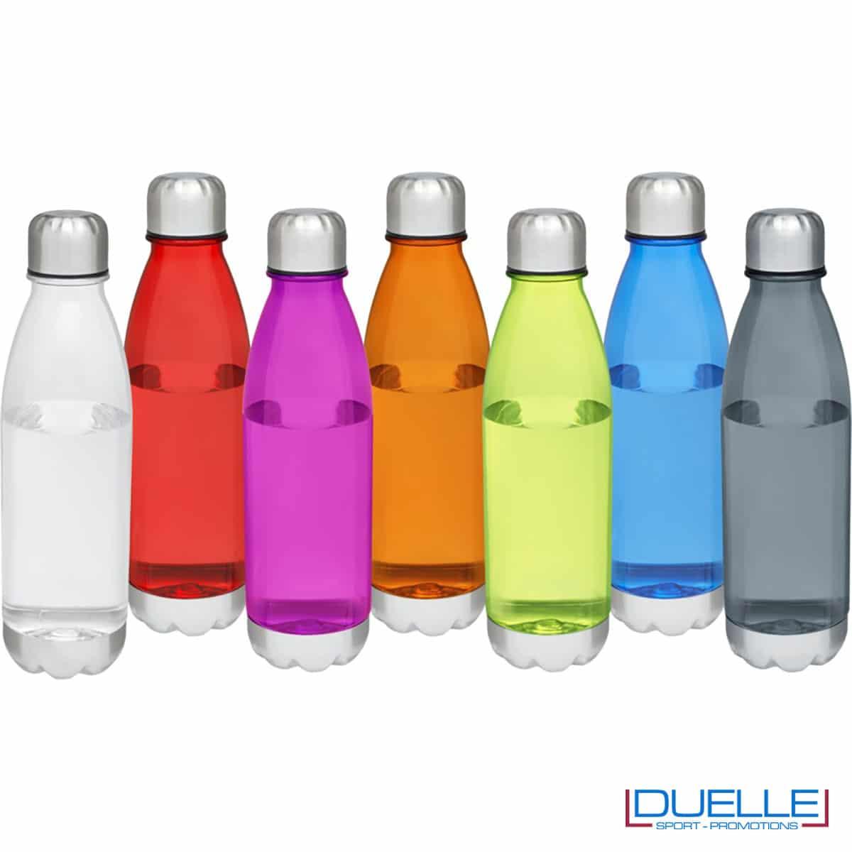 bottiglia personalizzata in tritan trasparente colorata