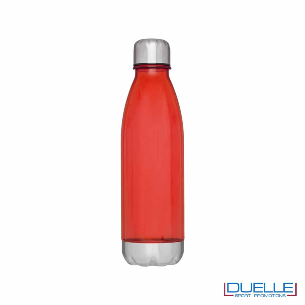 bottiglia personalizzata in tritan trasparente colore rosso