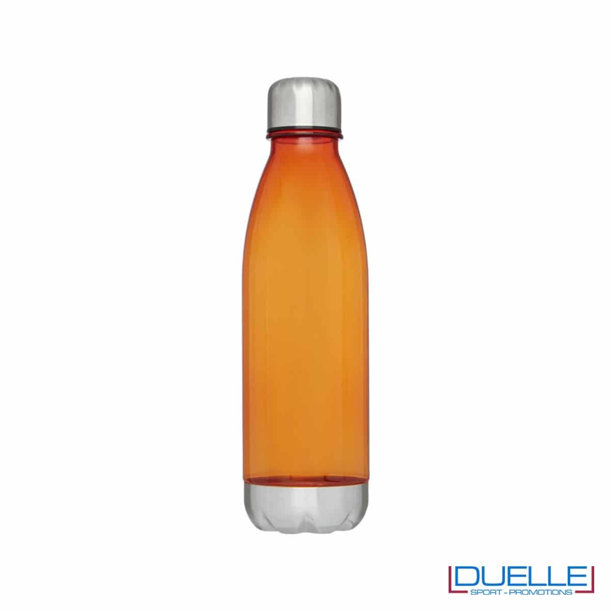 bottiglia personalizzata in tritan trasparente colore arancione