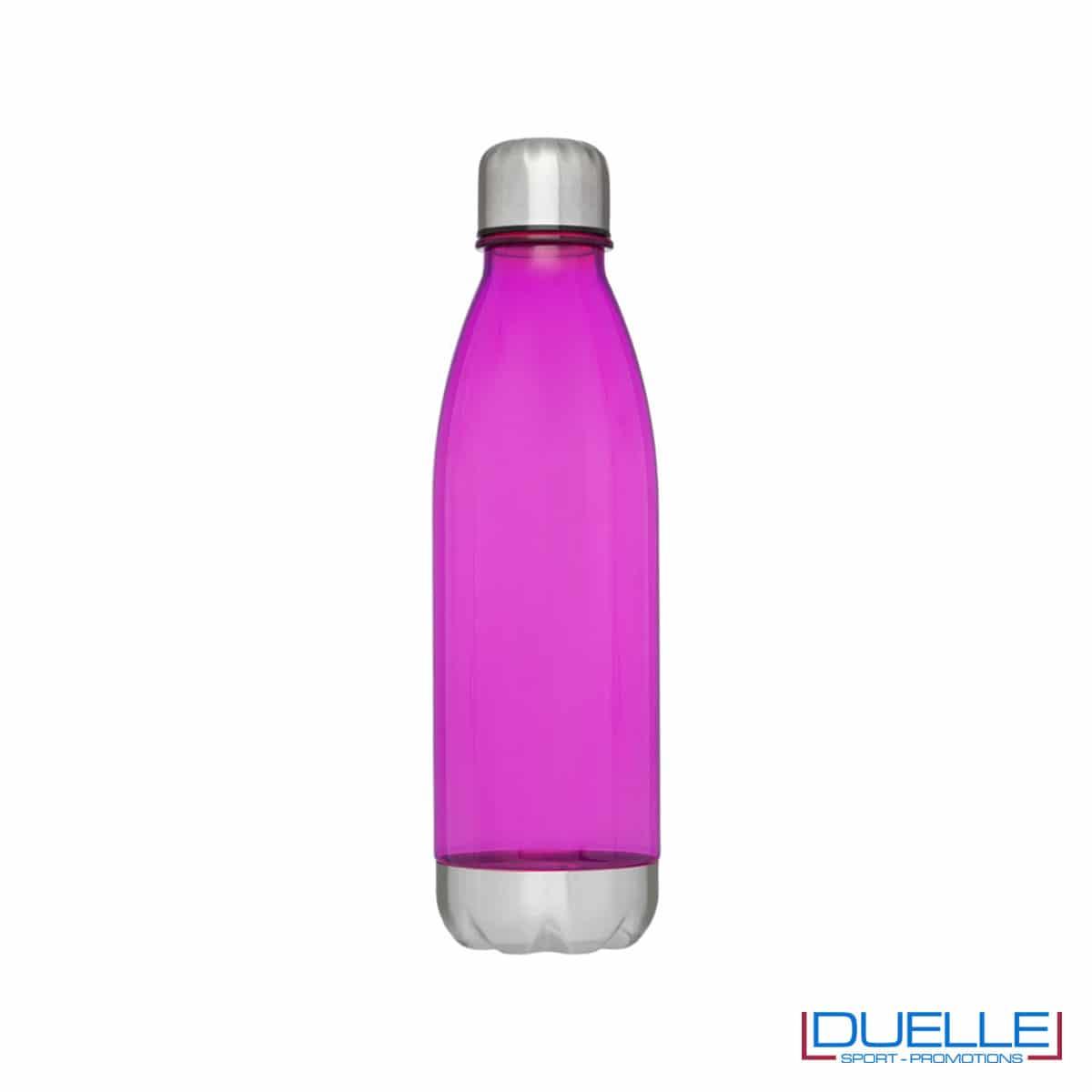 bottiglia personalizzata in tritan trasparente colore rosa