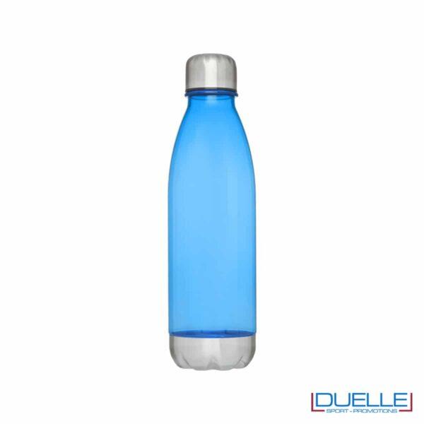 bottiglia personalizzata in tritan trasparente colore blu royal