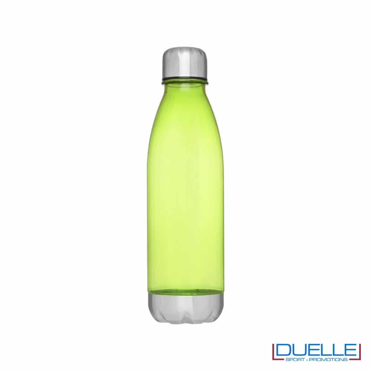 bottiglia personalizzata in tritan trasparente colore verde lime