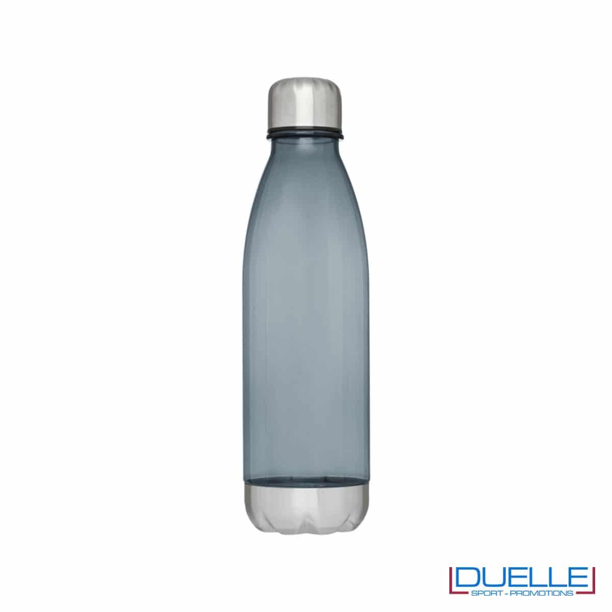 bottiglia personalizzata in tritan trasparente colore nero
