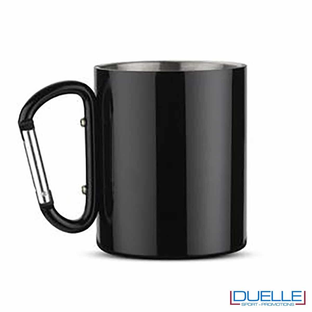 tazza con moschettone nera