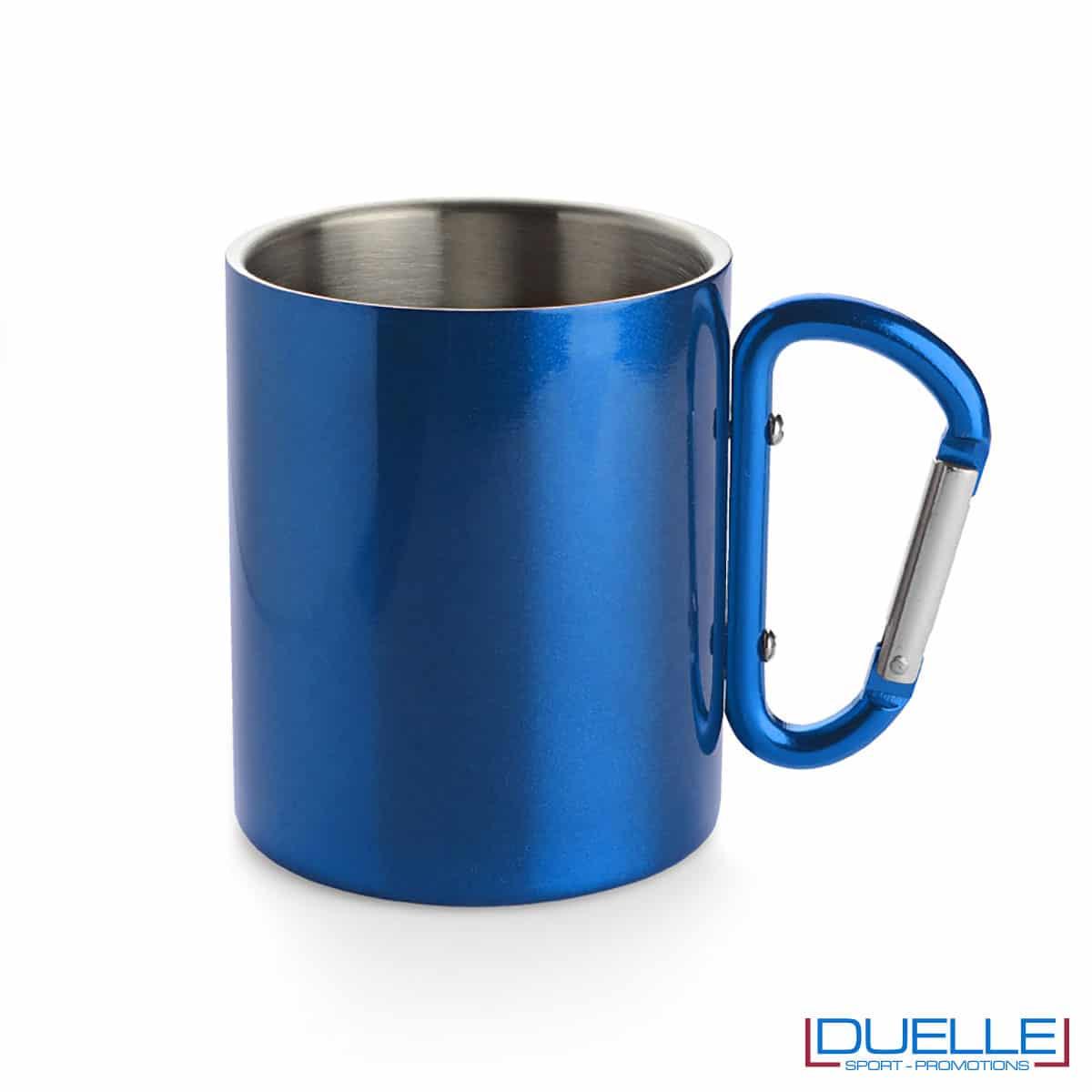 Tazza blu con moschettone
