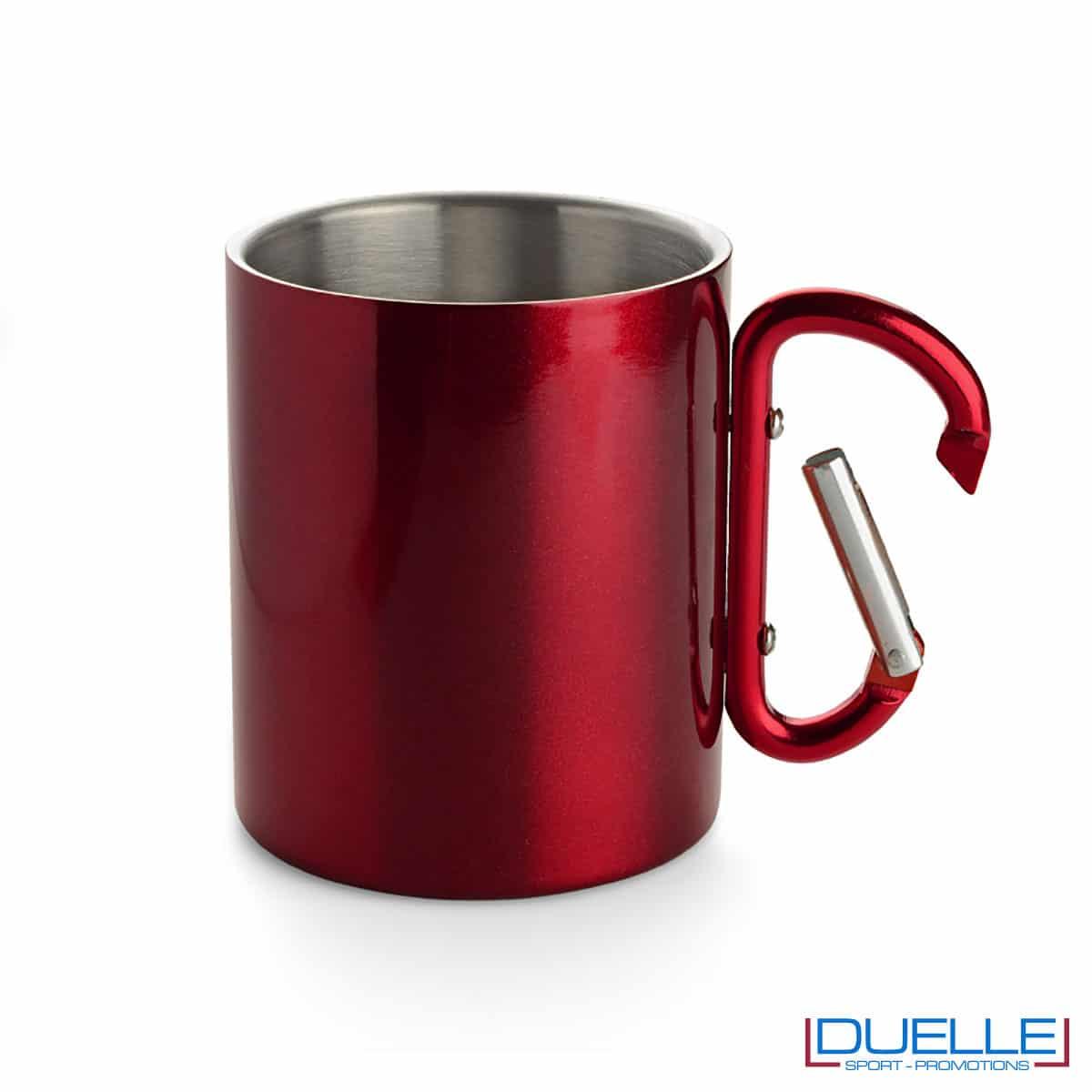 tazza con moschettone rosso
