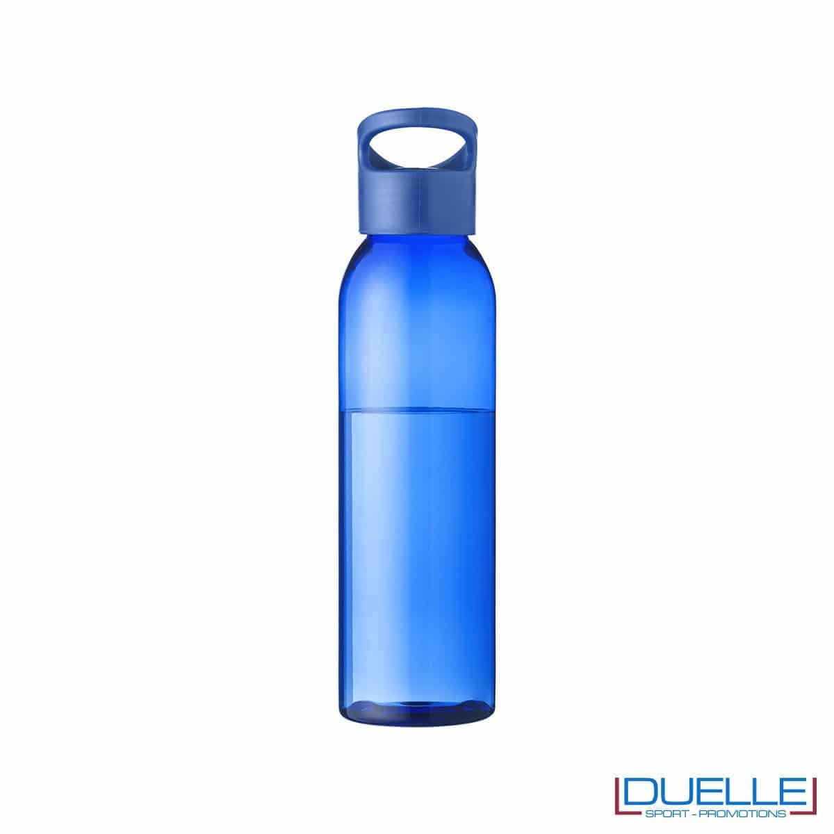 Borraccia in tritan personalizzata con tappo a vite colore blu, capacità 650ml