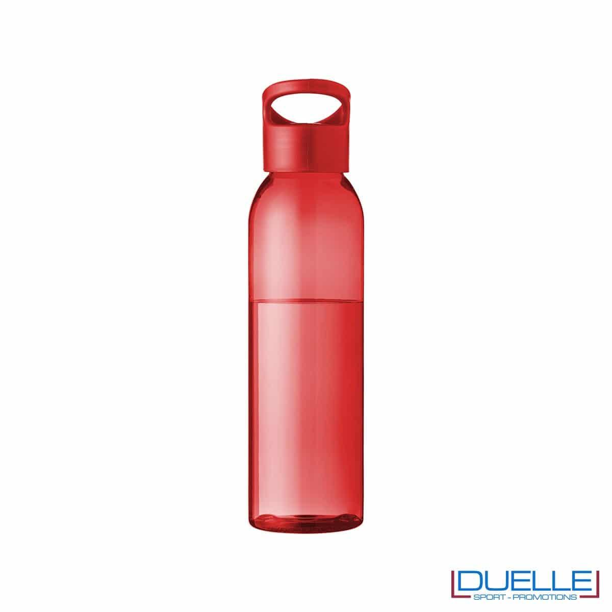 Borraccia in tritan personalizzata con tappo a vite colore rosso, capacità 650ml