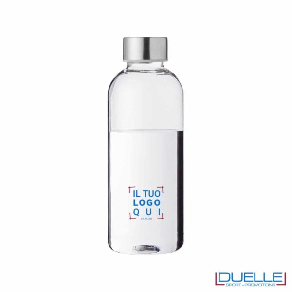 Bottiglia personalizzata in plastica con tappo a vite, 600ml